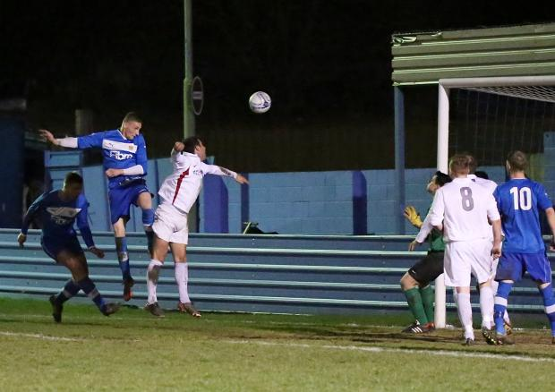 Andrew Wood opens the scoring for Hunsworth