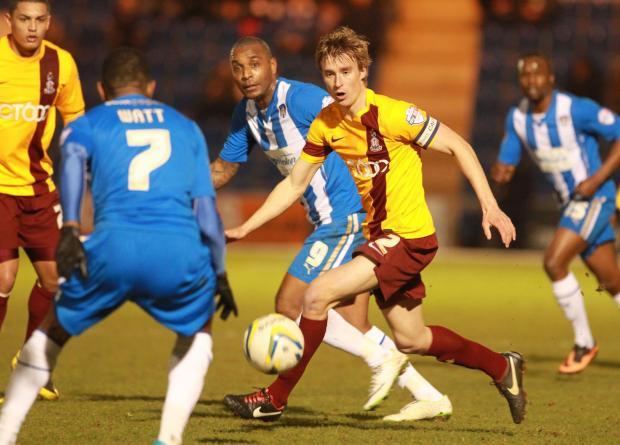Stephen Darby in action at Colchester on Tuesday night