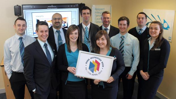 Some of those taking part in the Barclays Work Inspiration Week