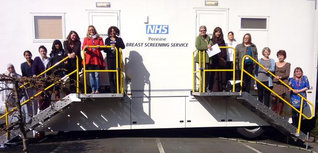 Local women and health workers join Pennine Breast Screening Service for a awareness session