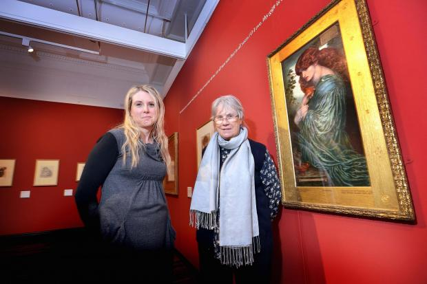 Jan Marsh and Jill Iredale (right) who have put the D G Rosetti exhibition at Cartwright Hall