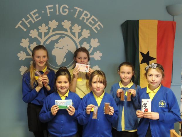 Pupils during their visit to the Fair Trade Visitor Centre