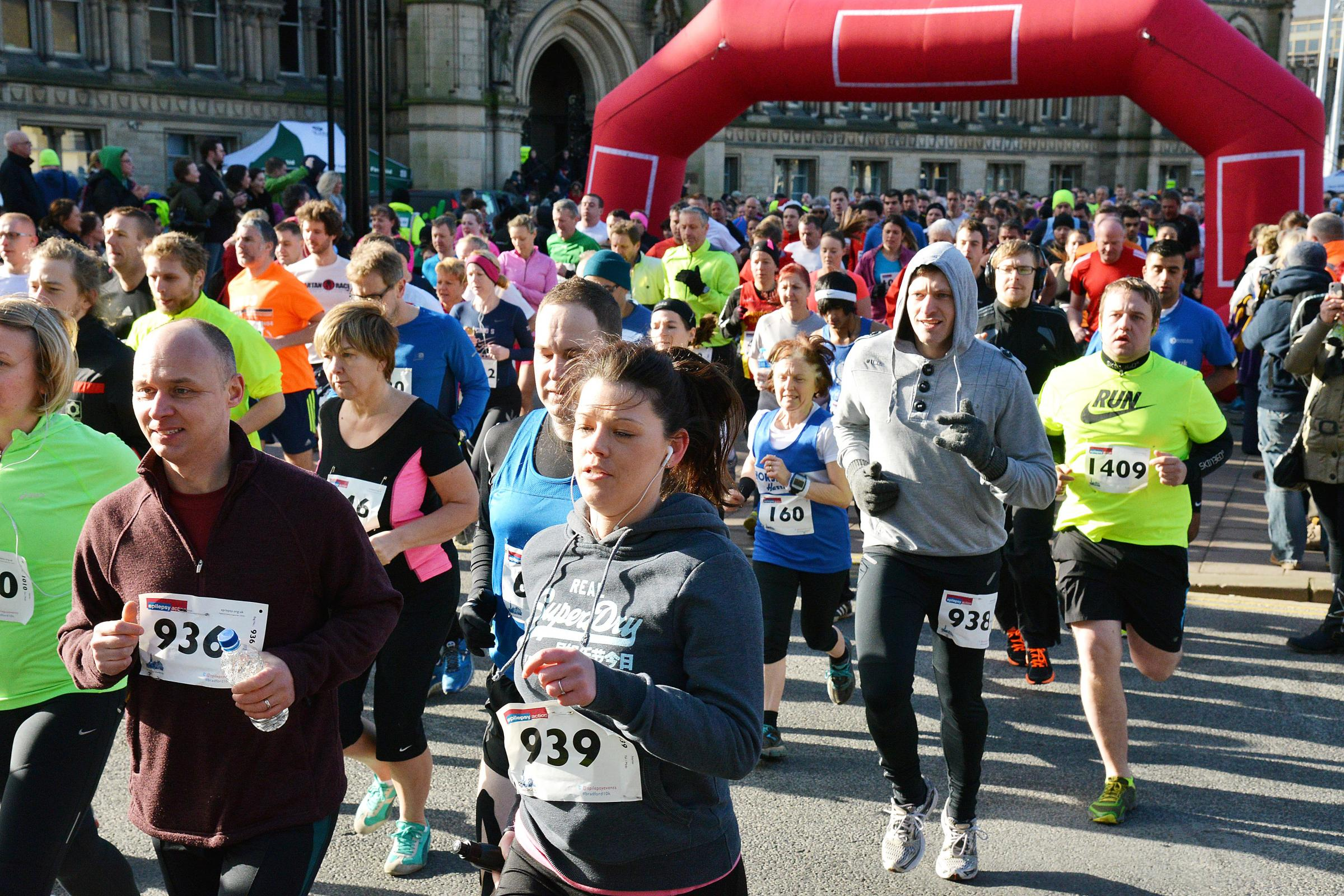 Record number of runners take part in Epilepsy Action 10k in Bradford - see full results