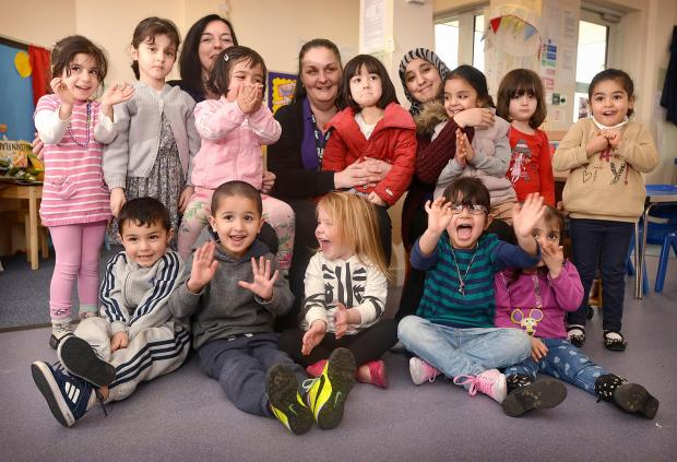 Park Lane pre-school celebrate their good Ofsted report
