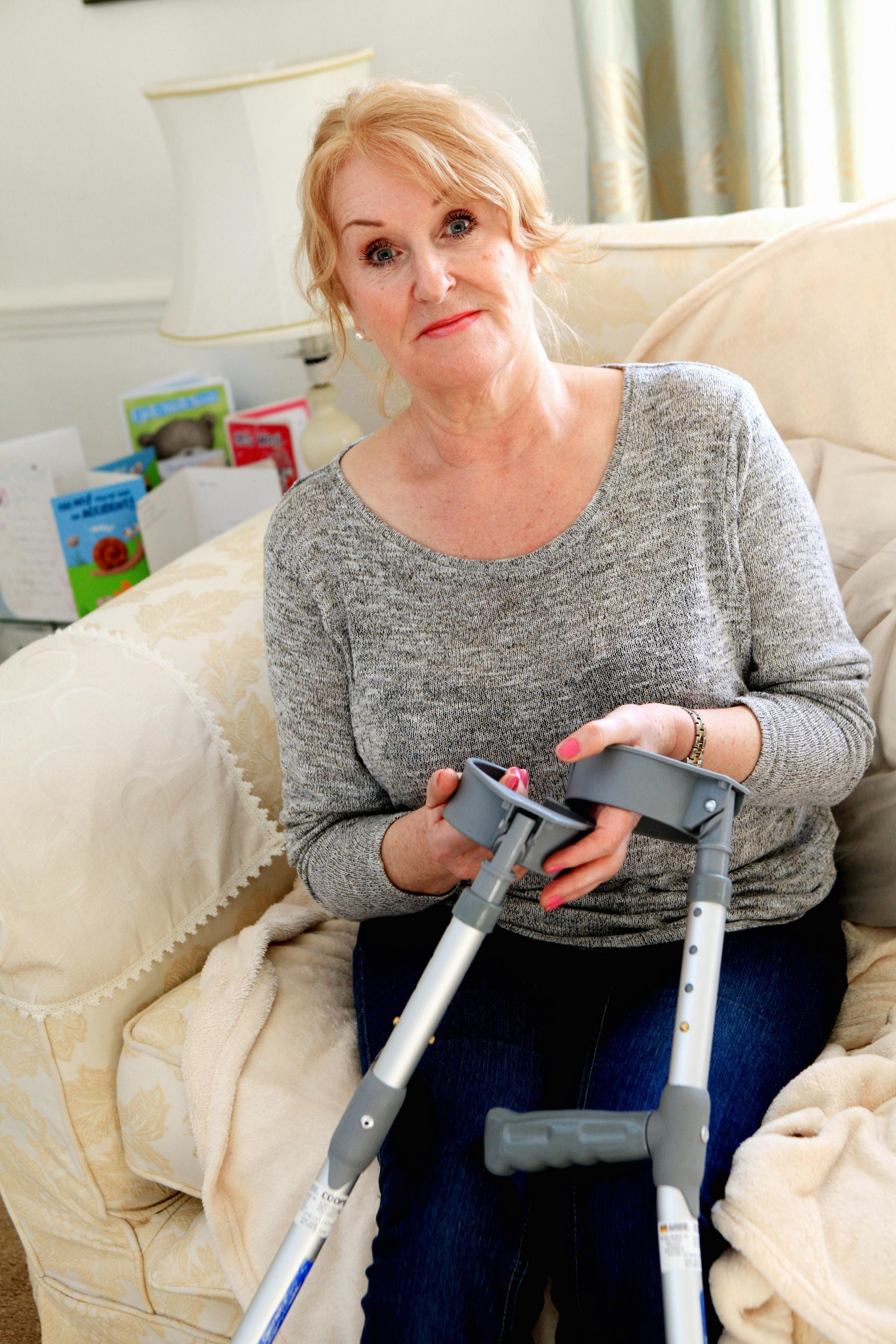 Carol Barton, who was told at Airedale Hospital that she had pulled a muscle but later l