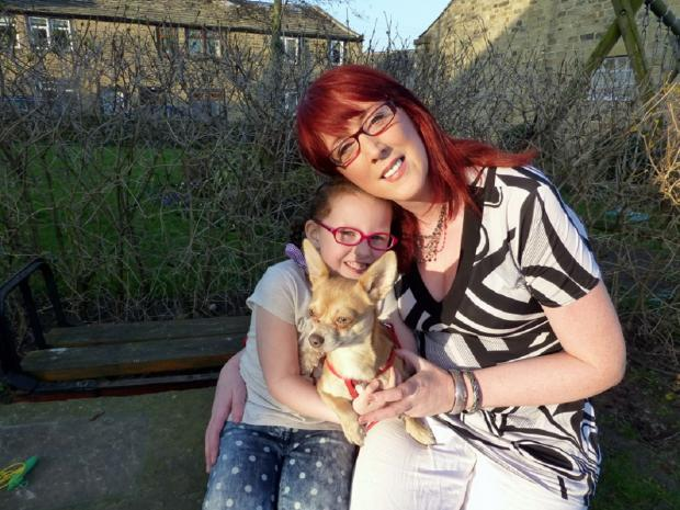 Louise Trotter, daughter Grace and Freddie the chihuahua
