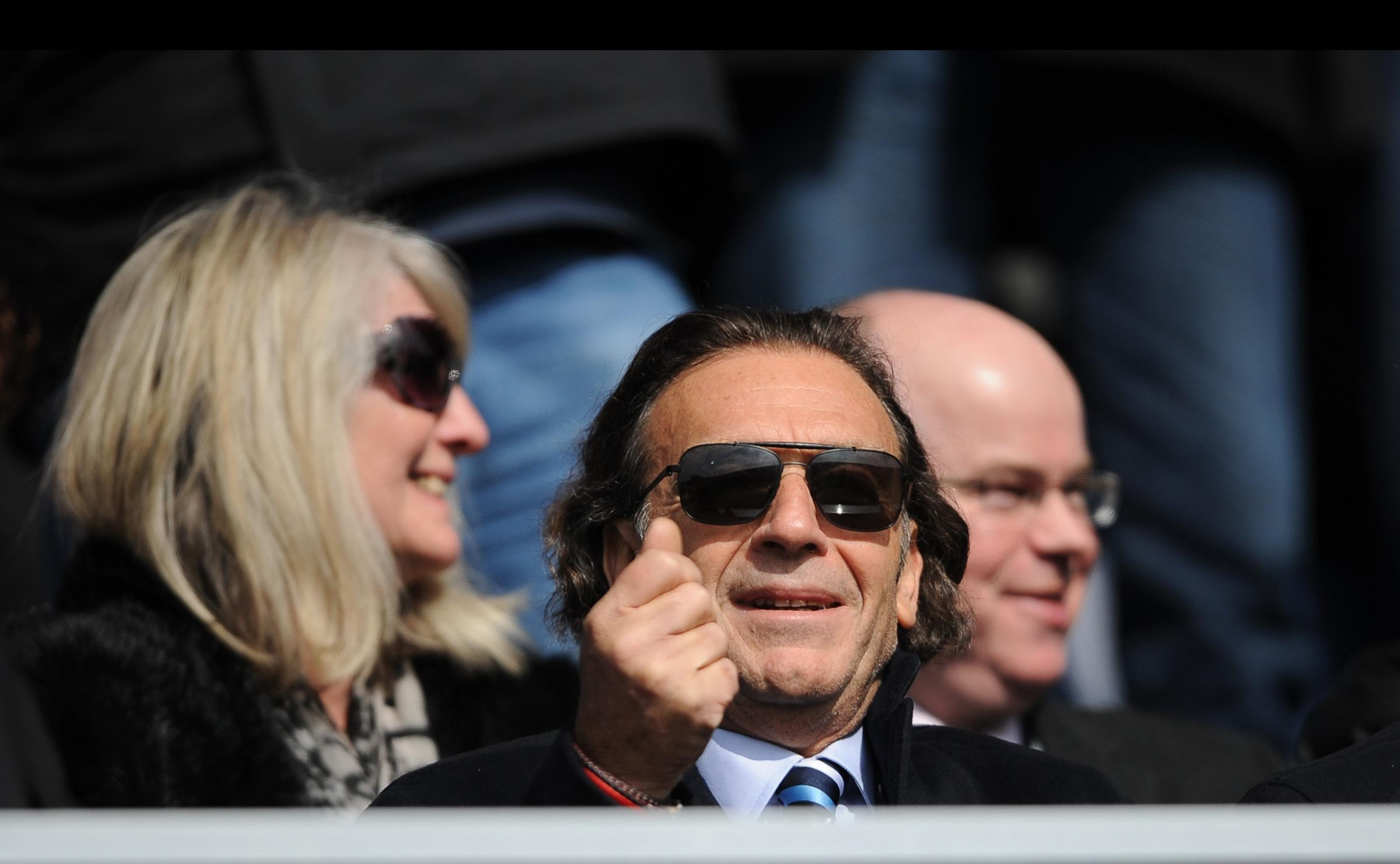 Massimo Cellino watches a Leeds games from the stands