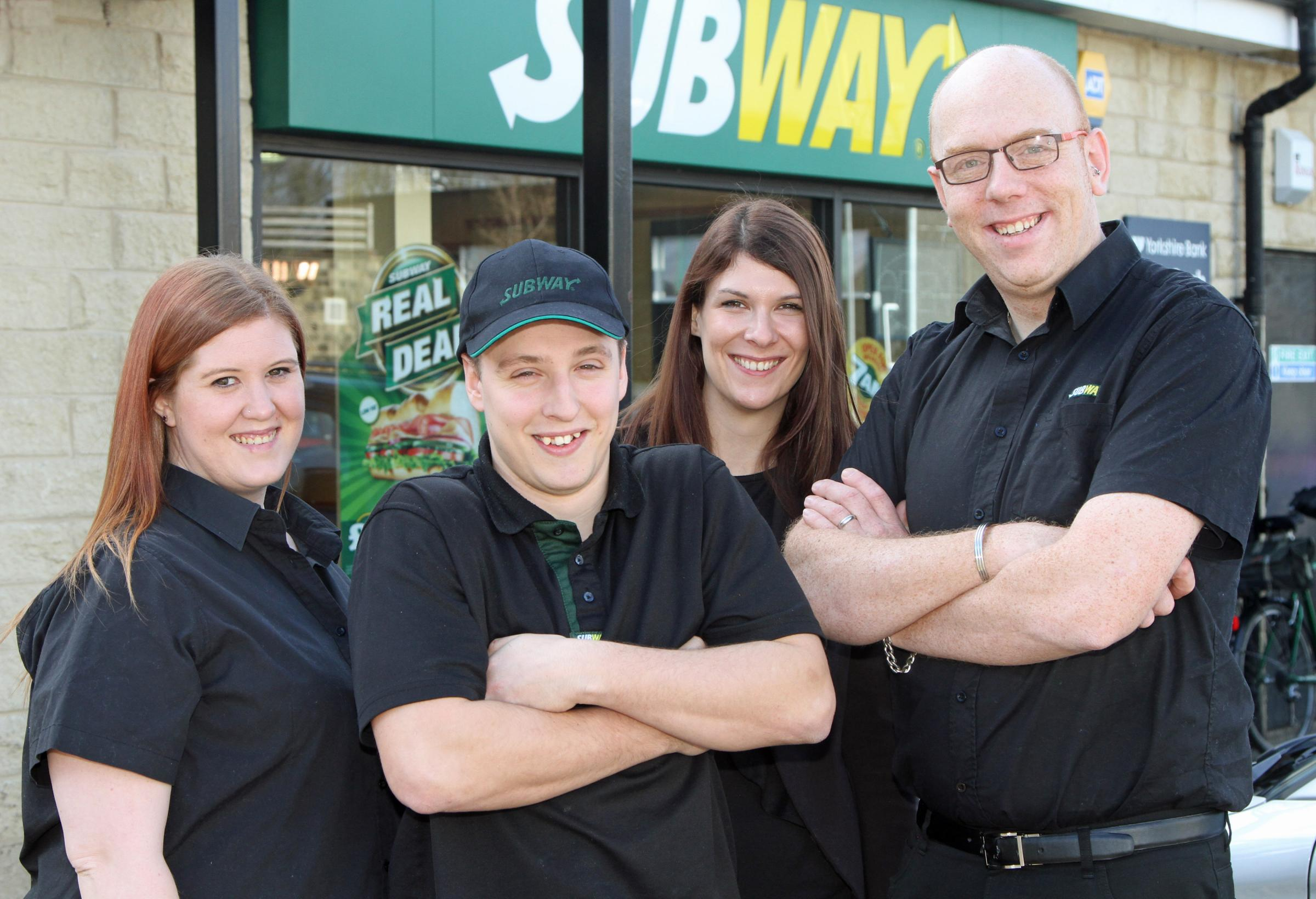 Left and right, franchisees Lara and Ian Dawes, along with new recruit Lee Edwards and Ingeus's Catherine Cooke