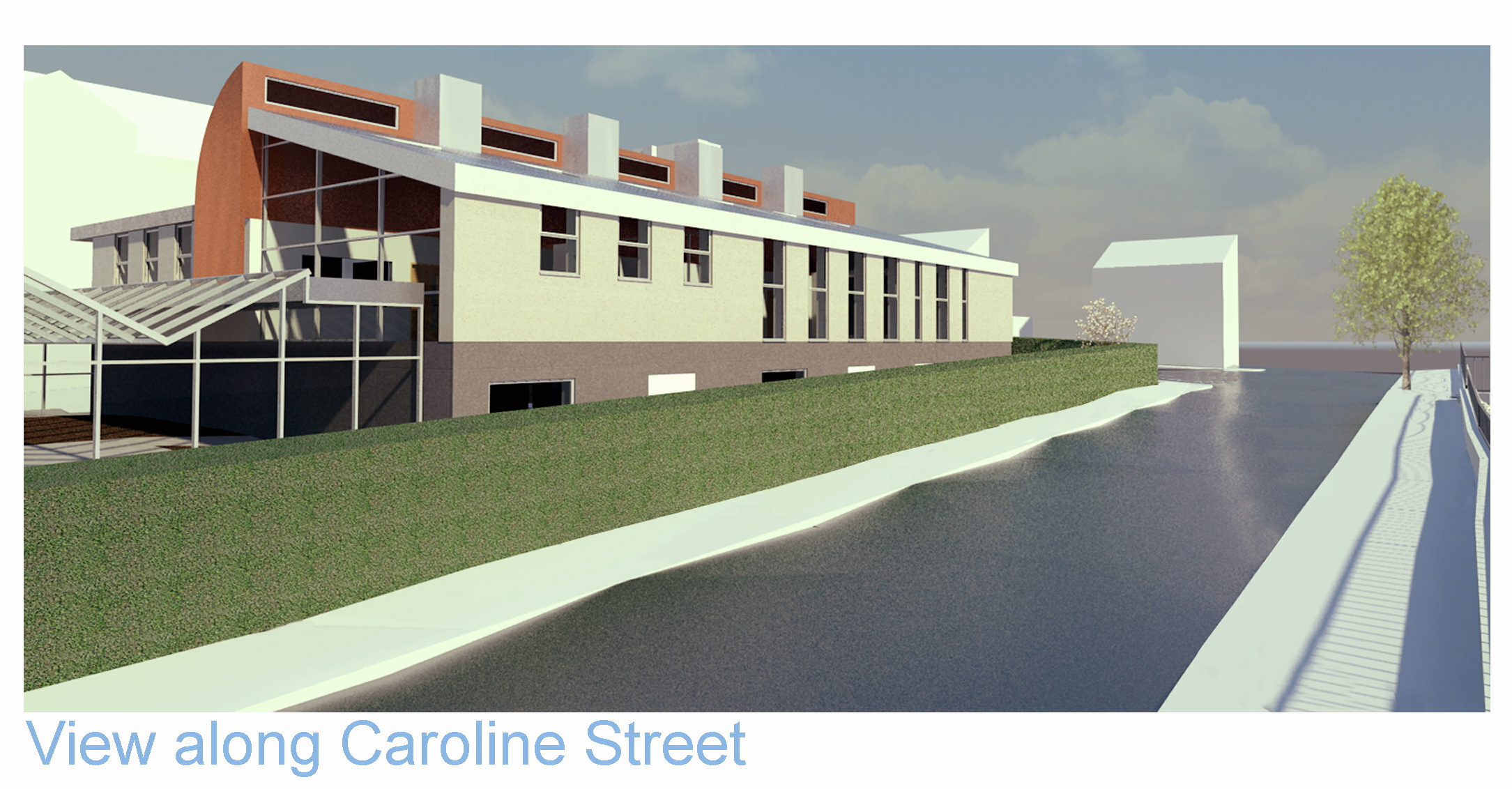 An artist's impression of the building
