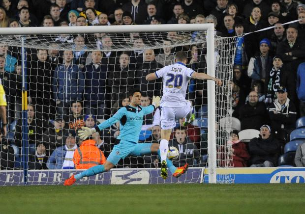 Matt Smith scores in the 4-2 home defeat to Reading earlier this month