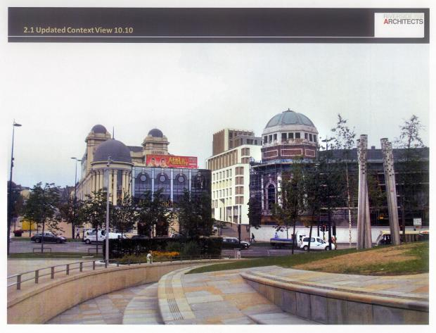 an artist's impression of the revised application