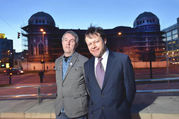 Gideon Seymour (left) and Lee Craven, from rival organisations Bradford One and Bradford Live, who are battling it out to redevelop Bradford's former Odeon