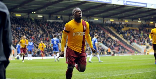 Aaron Mclean celebrates his first City goal