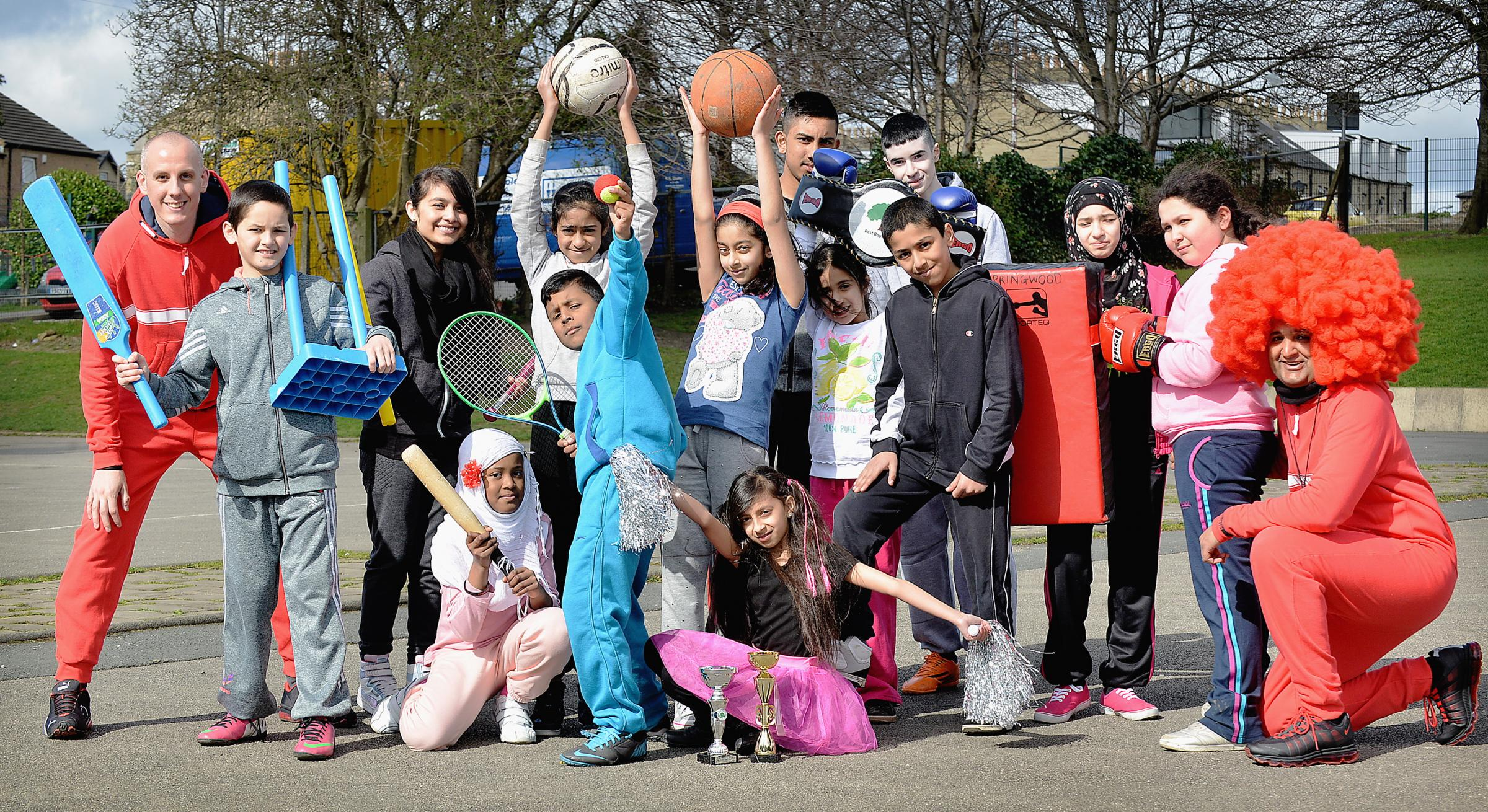 Springwood primary school have been taking part in Sports Relief and exhausting their teachers