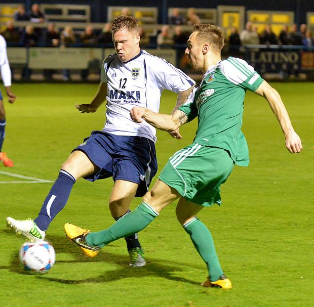 New Avenue recruit Spencer Harris began the season with Guiseley