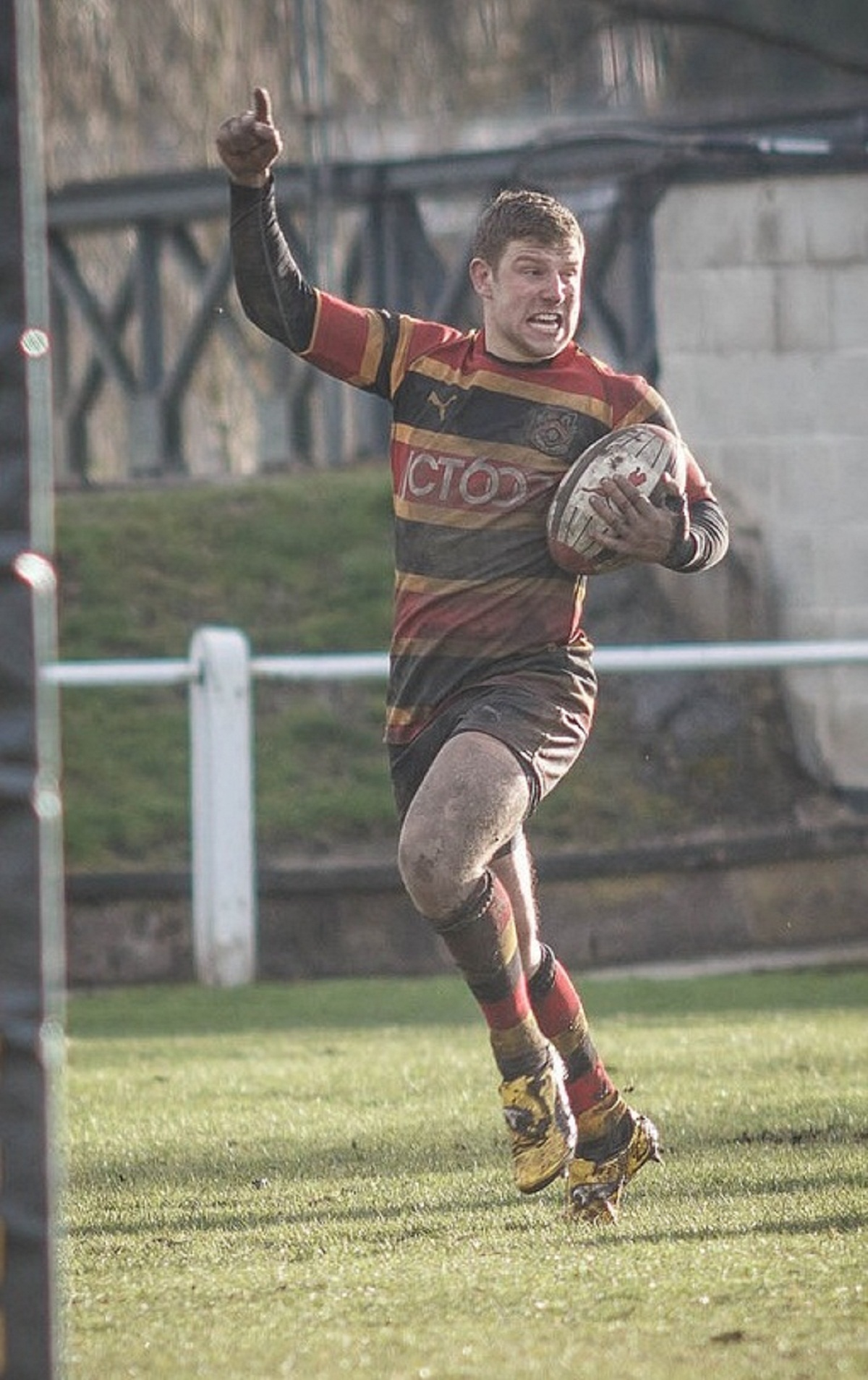 Richard Scull goes over for a try in Bradford & Bingley's victory over Beverley last Saturday. Picture: John Ashton