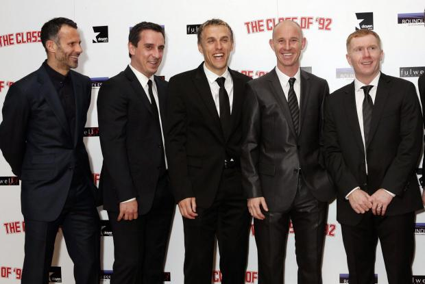 Manchester United legends Ryan Giggs, Gary Neville, Phil Neville, Nicky Butt and Paul Scholes