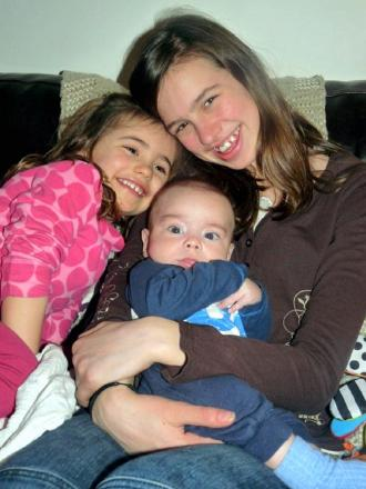 Guiseley youngster Wes Knight with his sisters Amelie ( left) and Isobel (right)