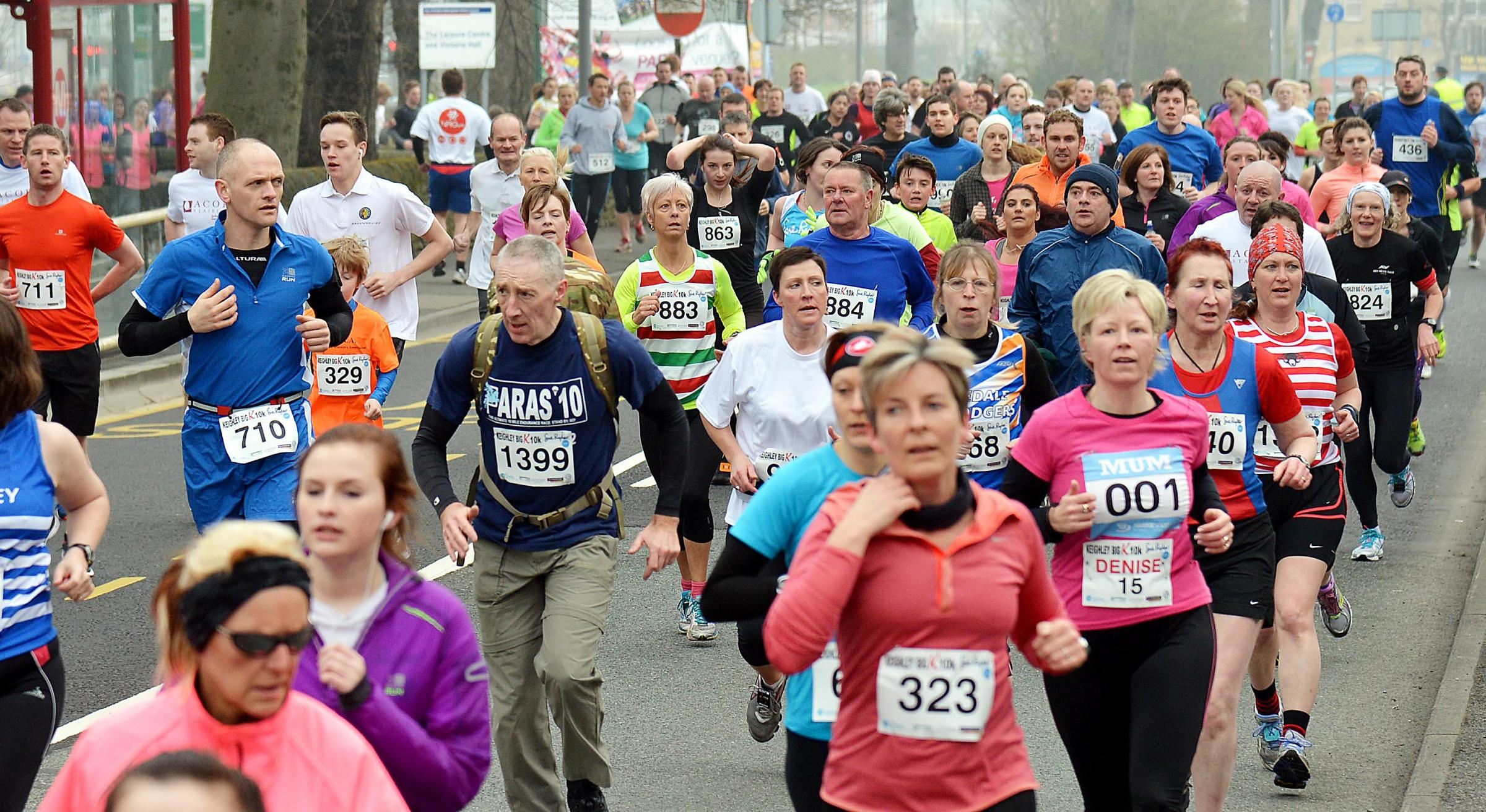 More than 1,300 runners took part in today's race