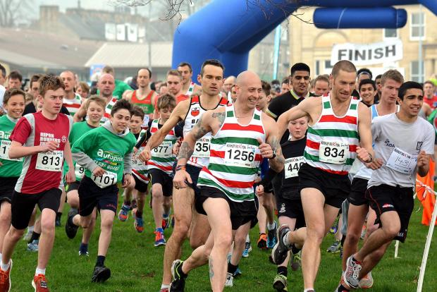 Hundreds of runners set off on the Keighley Big K Ten K run for Manorlands