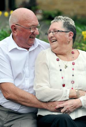 Bradford golden couple's boost for cancer ward