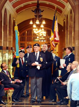 The West Yorkshire branch of the British Korean Vets lays up its standard at City Hall