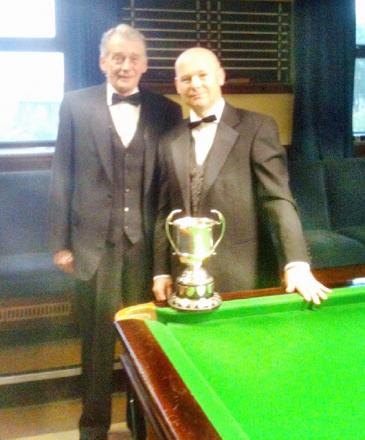 Richard Lodge, left, and Mark Hirst are already through to this year's Bradford Billiards Championship semi-finals