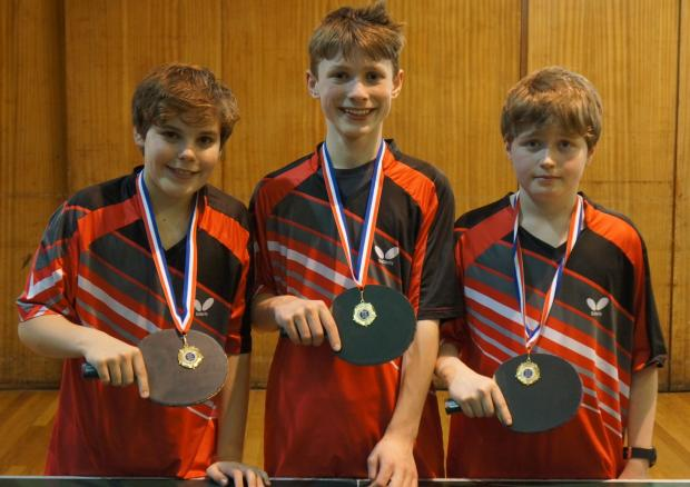 The gold medal-winning Oakbank boys team
