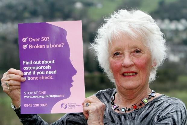 Osteoporosis campaigner Christine Sharp