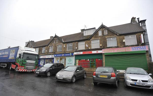 Chellow Grange Post Office on Haworth Road, where an attempted robbery took place