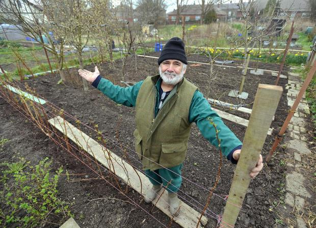 Speeton Avenue allotment holder Robert Stone says he may be evicted from it by Bradford Council