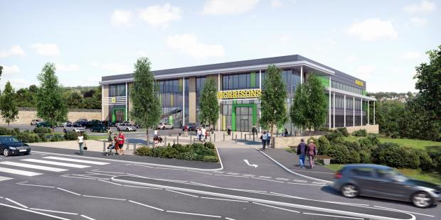 An artist's impression of what the developed site in Shipley would look like