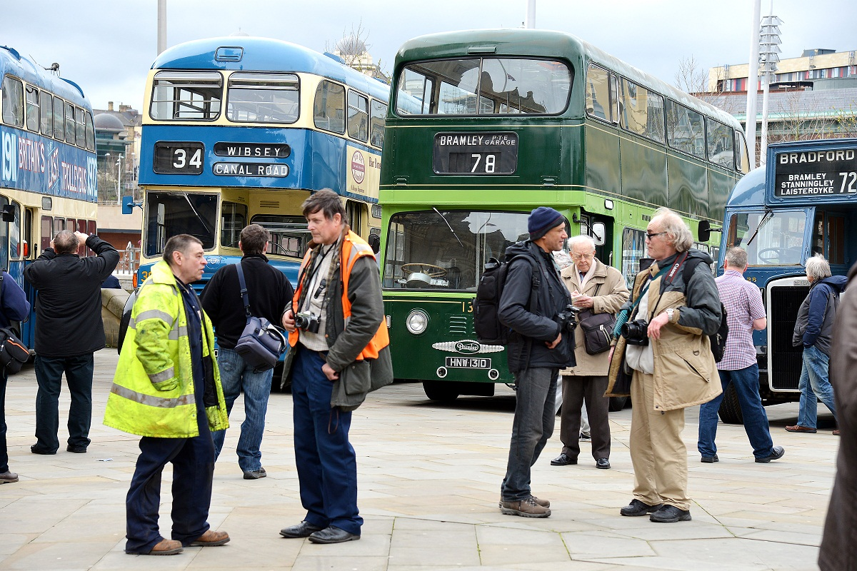 Bus fans flock to vintage show in city with ride down memory lane