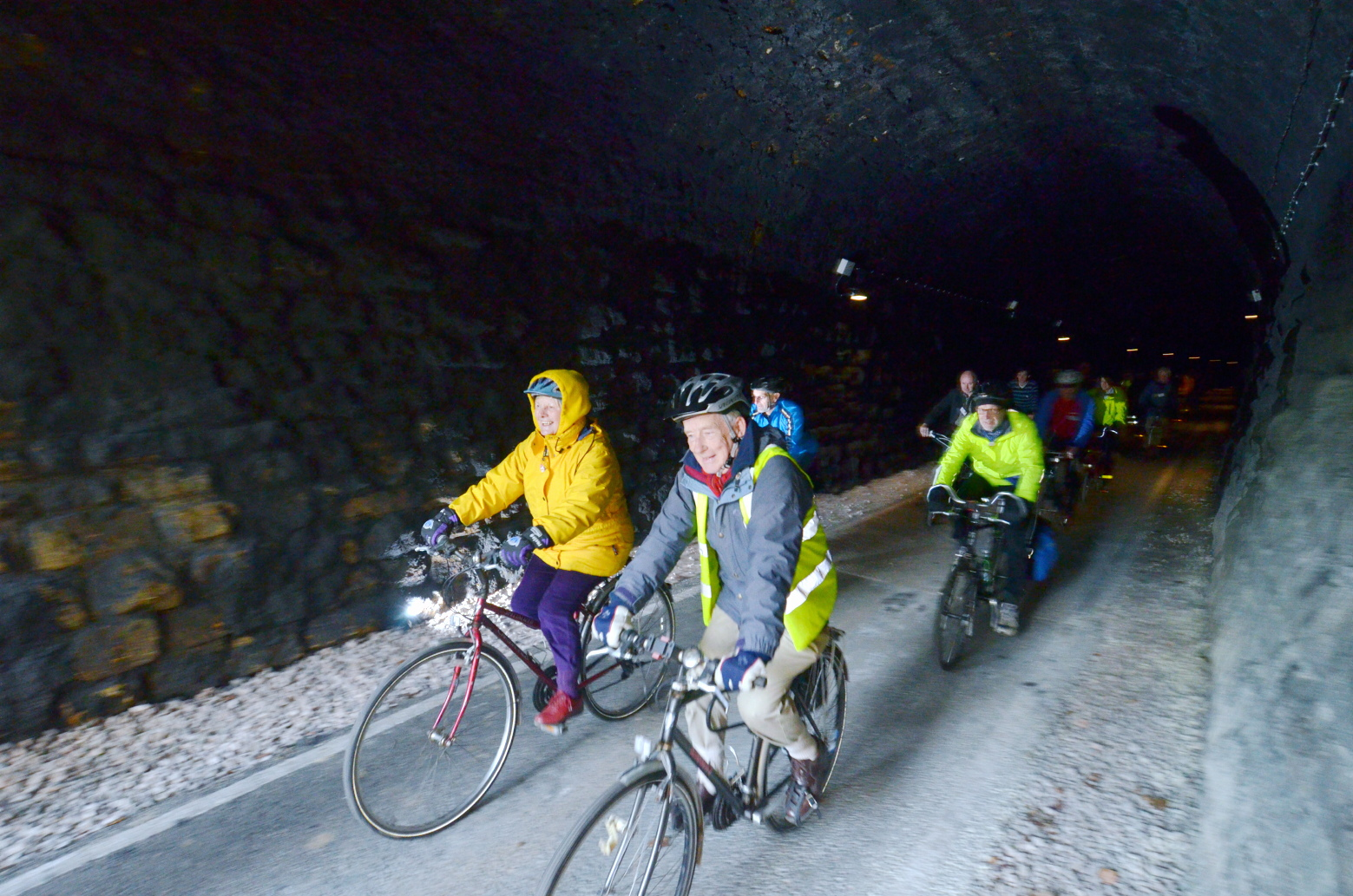 A cycleway tunnel in Bath, which campaigners are hoping to emulate in Queensbury