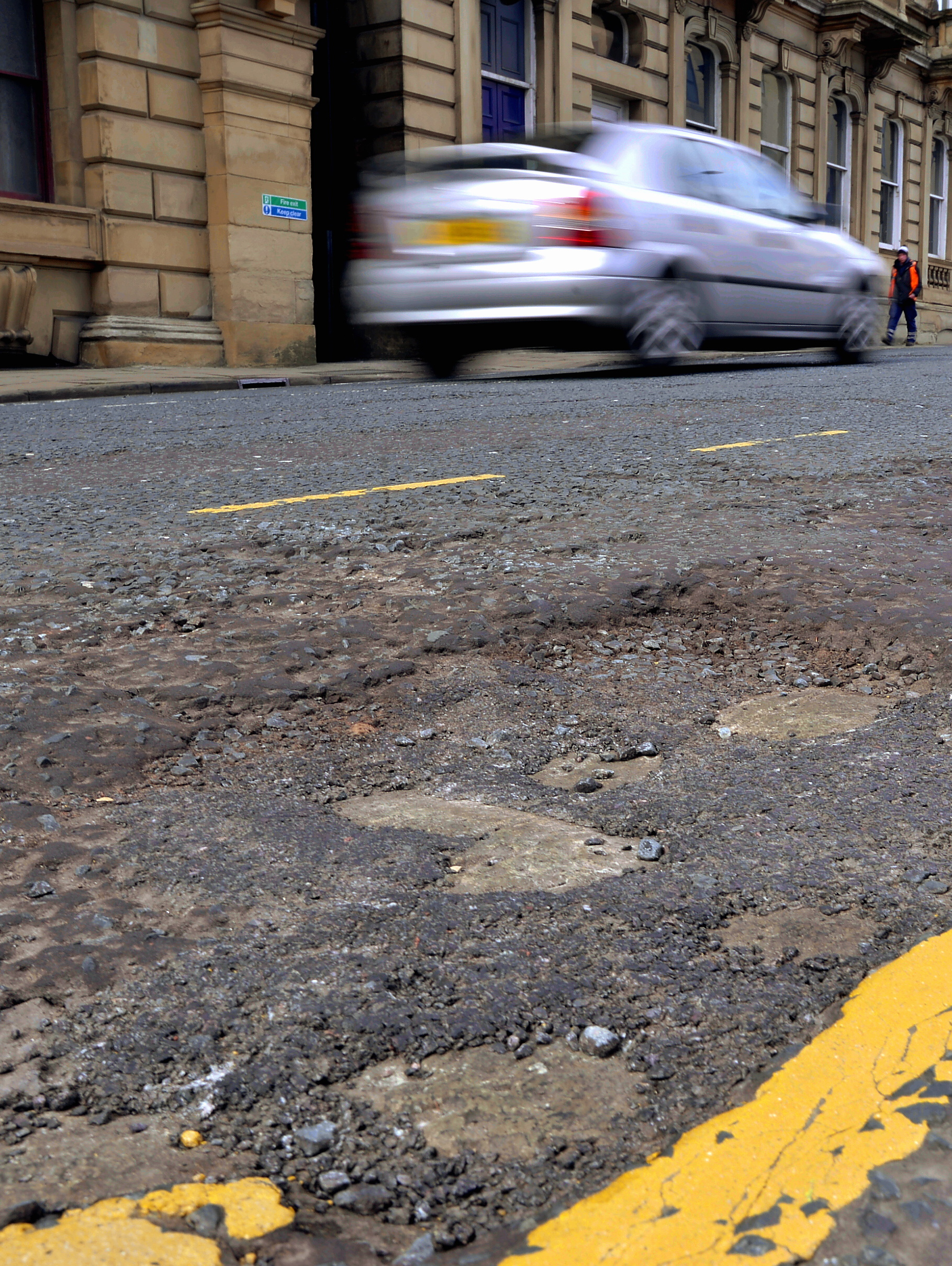 Council sinks gritting cash into potholes