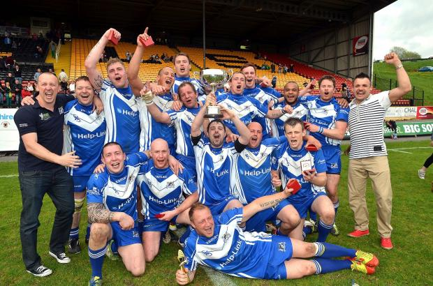 Birkenshaw, seen after their 2013 triumph, may retain the Jack Senior Memorial Cup - but they won't be plaing the final at Odsal