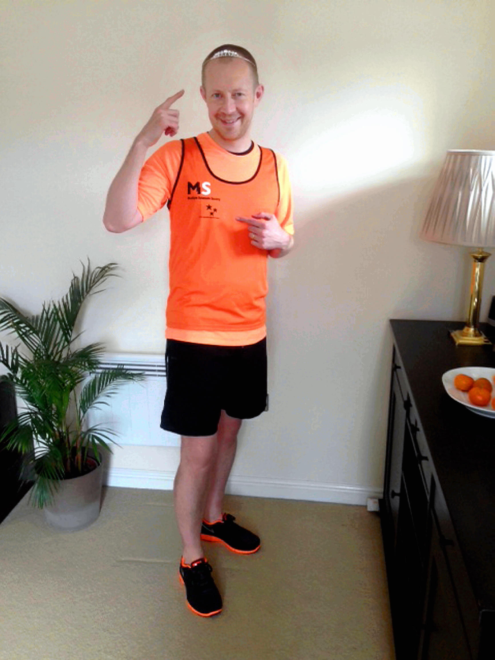 Dr Robert Moran prepares for Sunday's London Marathon