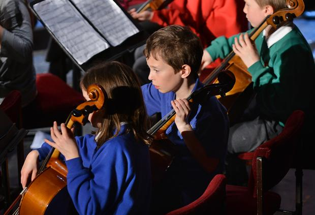 PERFORMERS: The Bradford District School Orchestra at St George's Hall
