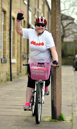 Jan Greenwood, who was injured after falling off her bike while training for a charity cycle ride to Blackpool