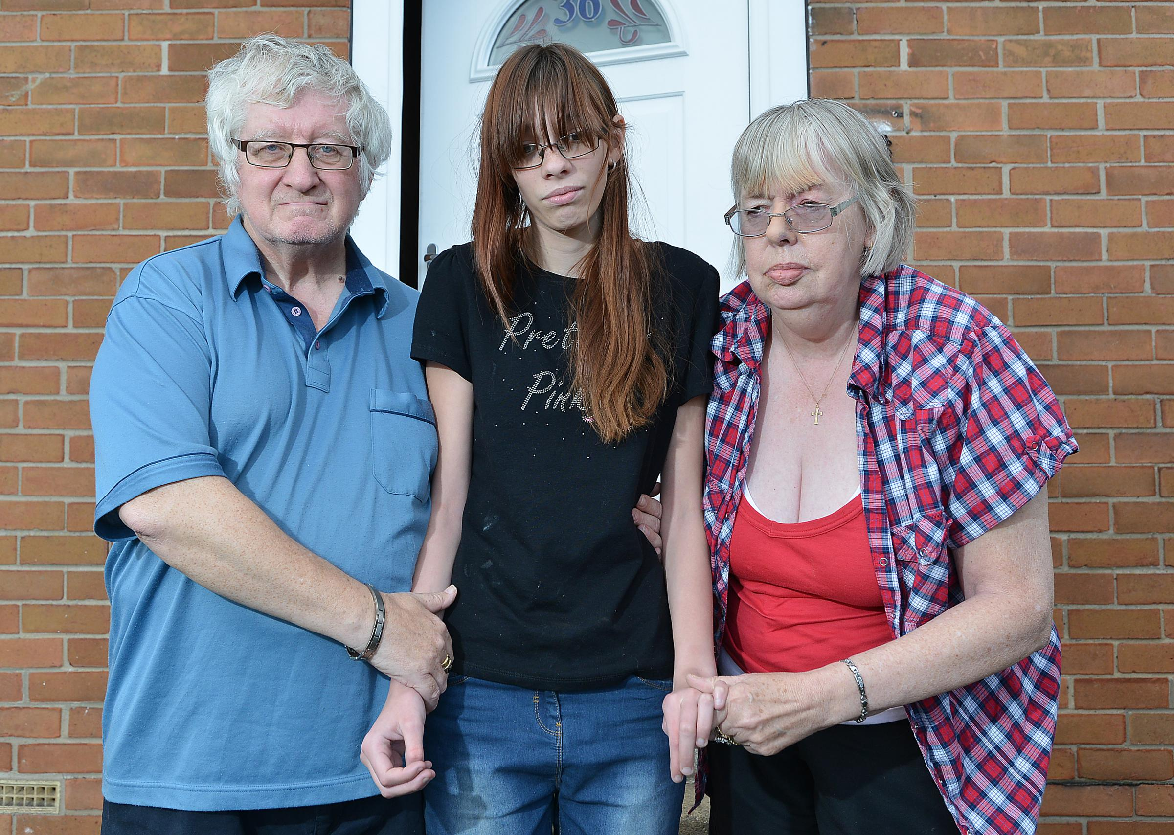 Grandparents John and Clare Pollard with their grandaughter Sophie, 18, who suffers from epilepsy