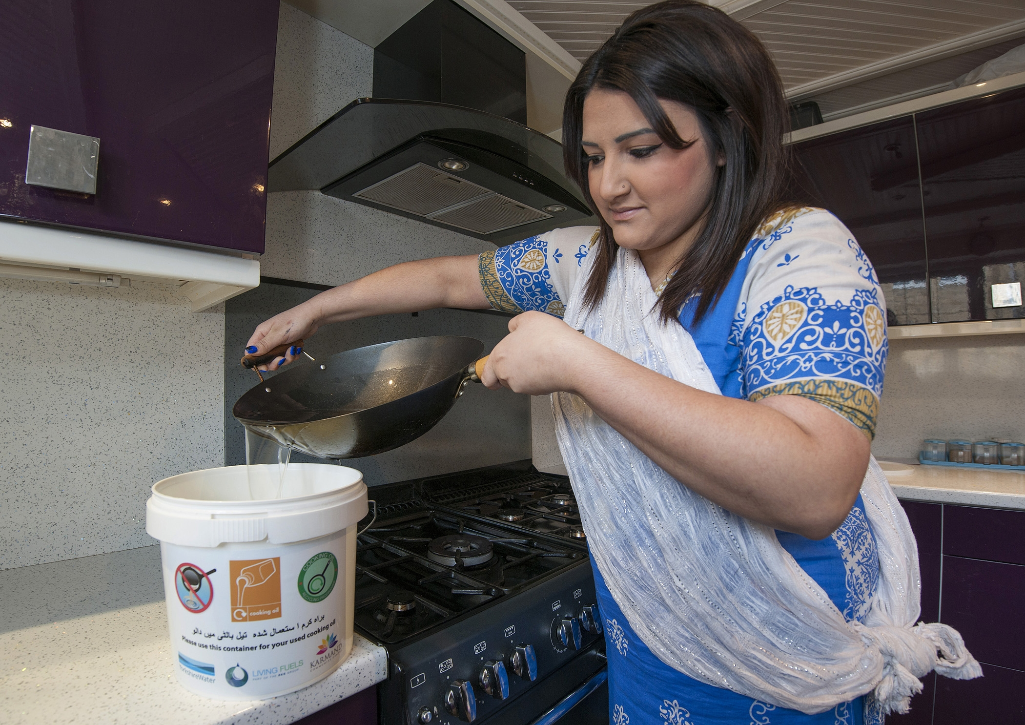 Sra Hussain, 19, from Bradford Moor, taking part in