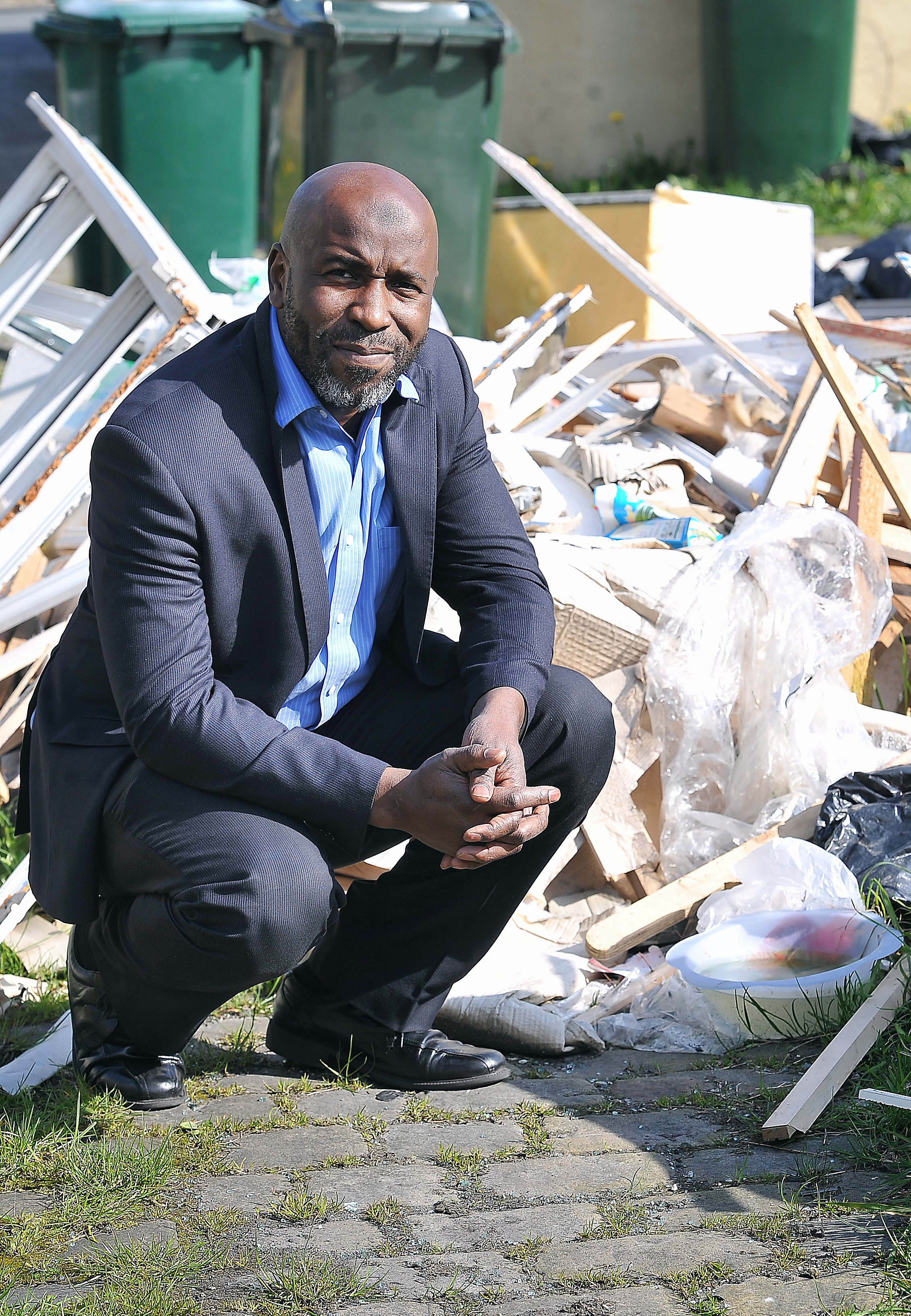 CONCERNS: Resident Ian Thompson who is angry at the rise of flytipping in the Little Horton area of Bradford