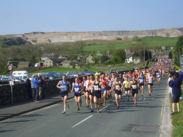 Three Peaks runners on their marks