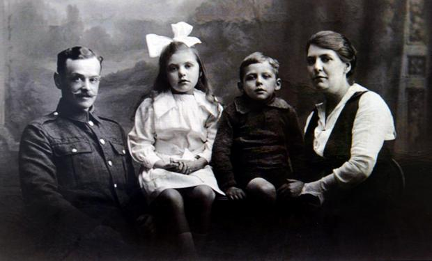 This image of a young family has been added to an online First World War archive
