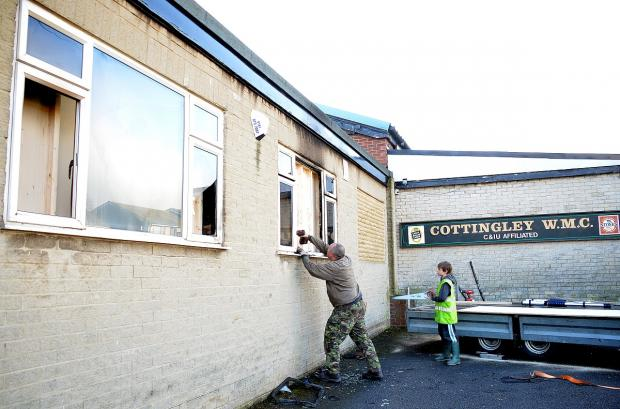 A second arson attack in a week took place at the Cottingley Working Men's Club earlier this year