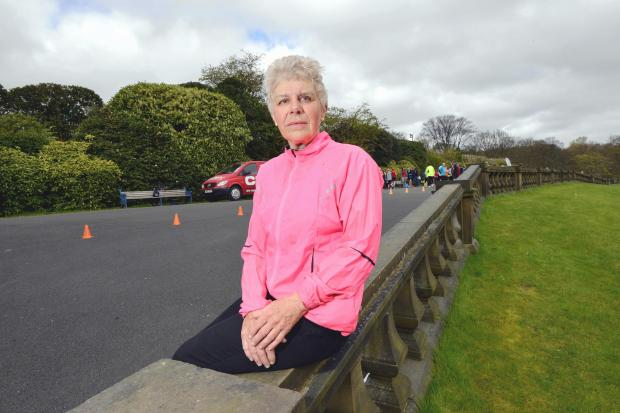 Liz Boothman, pictured at the Lister Park run this weekend