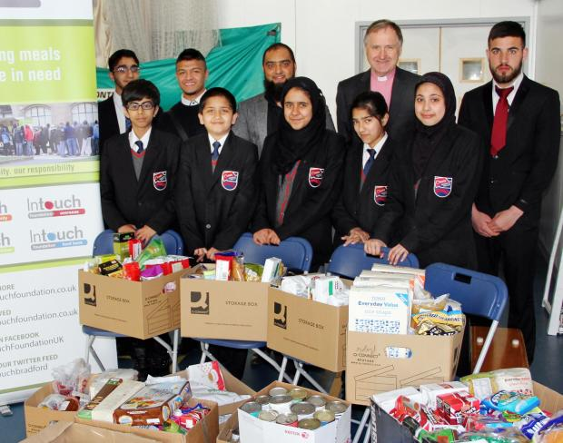 Bradford Telegraph and Argus: Students help out foodbank