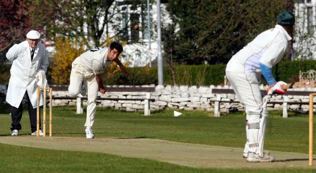 Bradford Telegraph and Argus: Mahir Ali bowling for Horsforth in their Division Three victory over Woodhouse