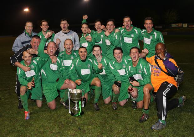 Field FC celebrate their cup success  Picture: Alex Daniel Photography