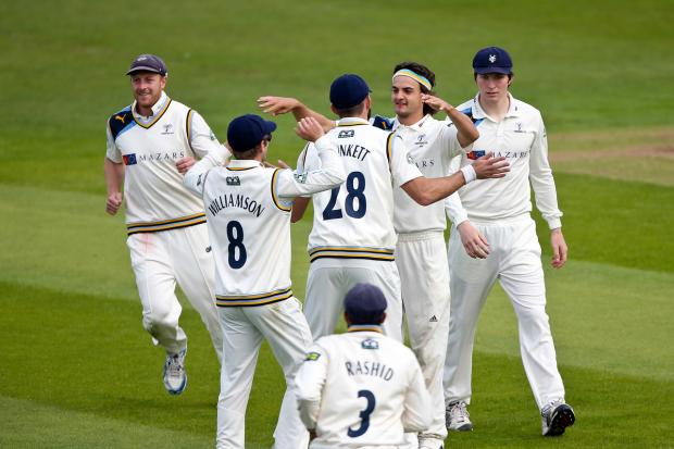 Bradford Telegraph and Argus: Jack Brooks takes another wicket today on his way to career-best match figures of 8-112